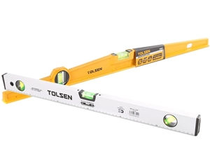 2 x TOLSEN Bridge Spirit Levels with Alu