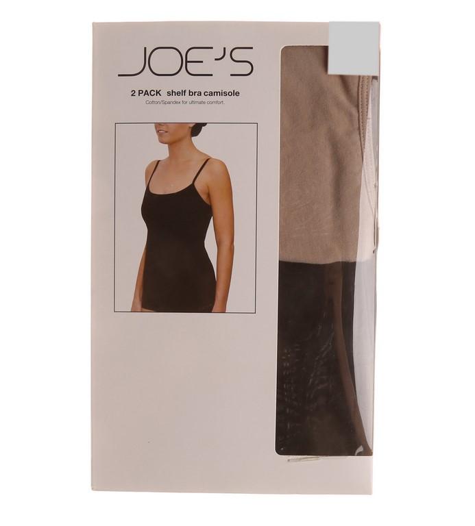 2 x JOE`S Women`s 2pk Shelf Bra Camisoles, Size L, 95% Cotton, 5% Spandex,