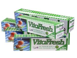 3 x VITAFRESH Food Packaging Film 45cm x