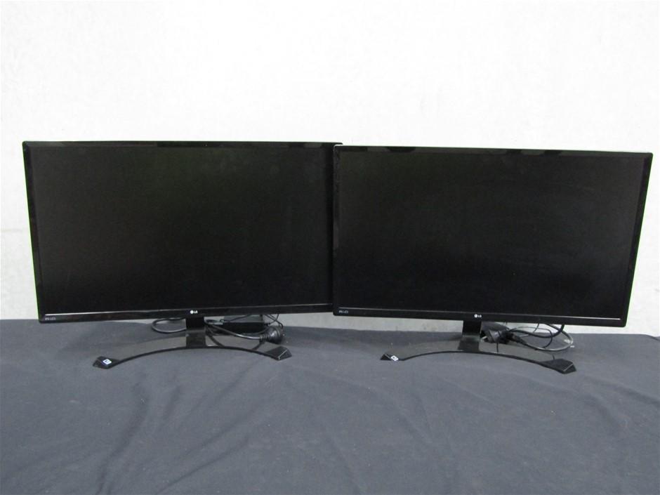 Qty 2 x LG 27MP59HT-P 27 Inch Computer Monitors