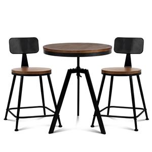 Artiss Bar Table and Stools set Vintage