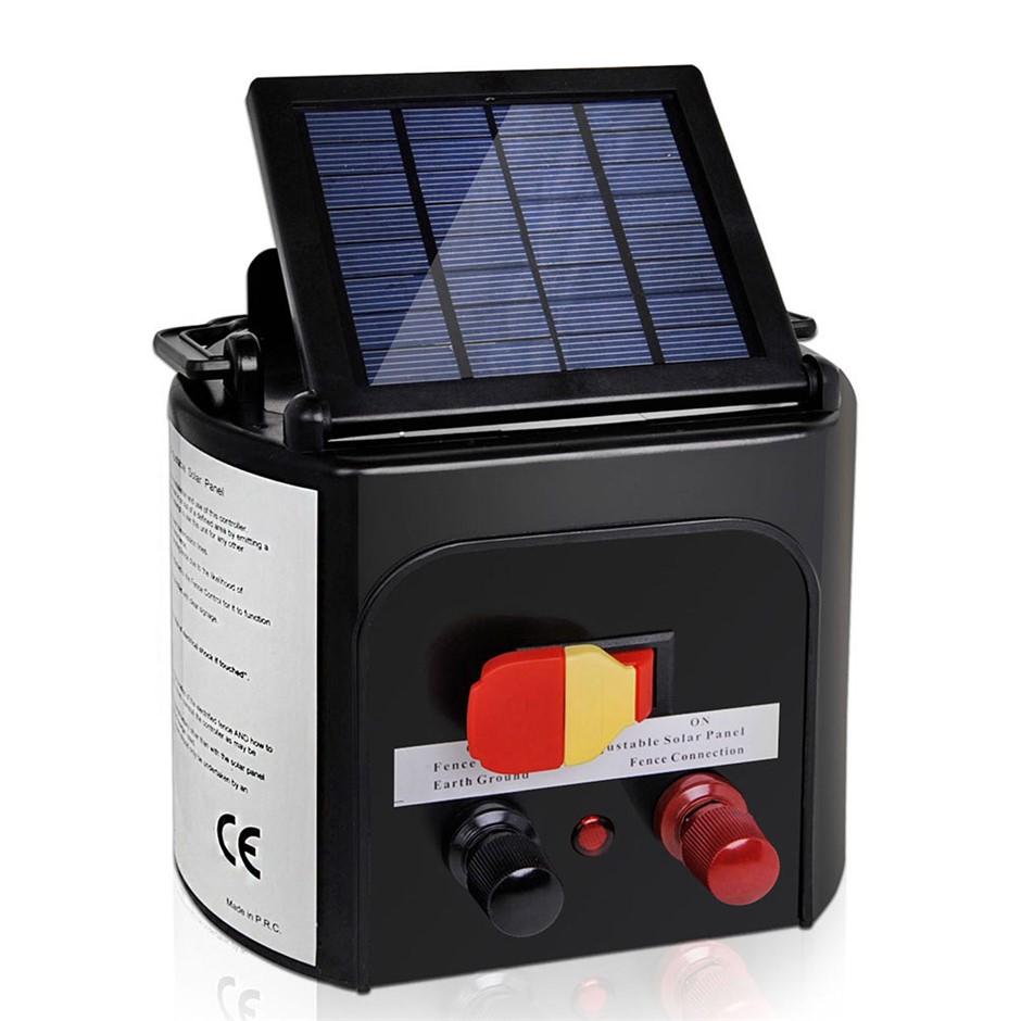 Giantz 5km 0.15J Solar Electric Fence Energiser Farm Charger