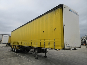 2007 Krueger ST-3-38 Triaxle Curtainside B Section Trailer