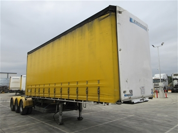 2011 Krueger ST-3-38 Triaxle Curtainside A Section Trailer