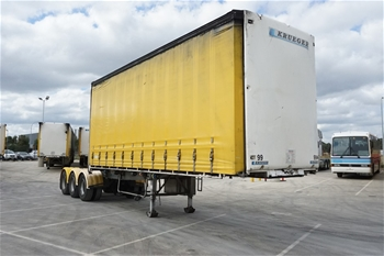 2009 Krueger ST-3-38 Triaxle Curtainside A Section Trailer