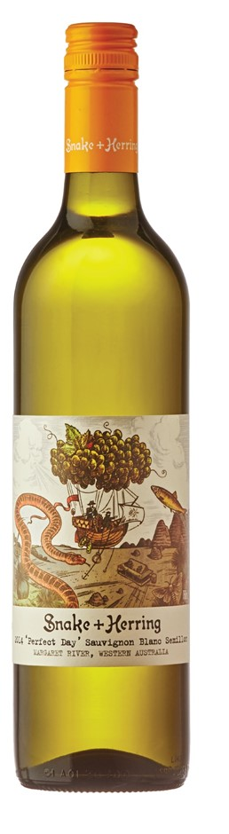 Snake & Herring Perfect Day Sauv Blanc Semillon 2017 (12 x 750mL), WA.
