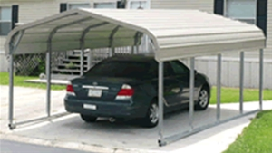 Unused Portable Galvanised Steel Carport