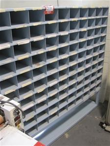 Metal Pigeon Hole Storage Unit Auction