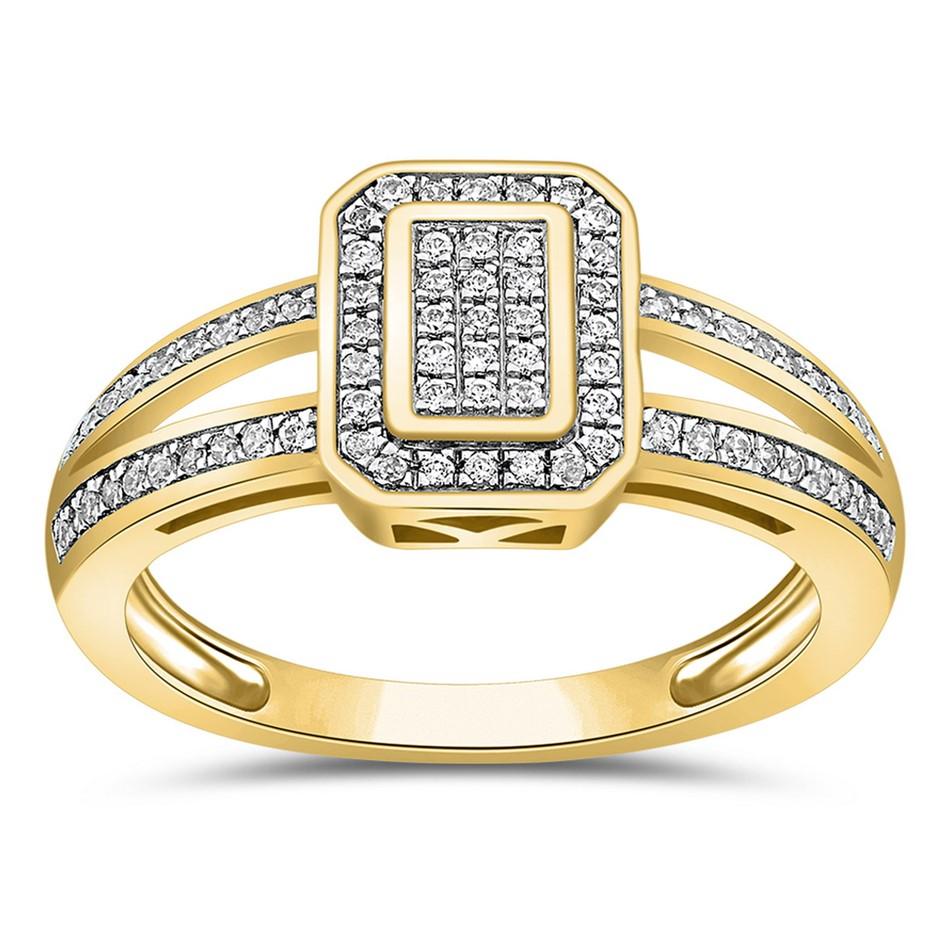 9ct Yellow Gold, 0.20ct Diamond Ring