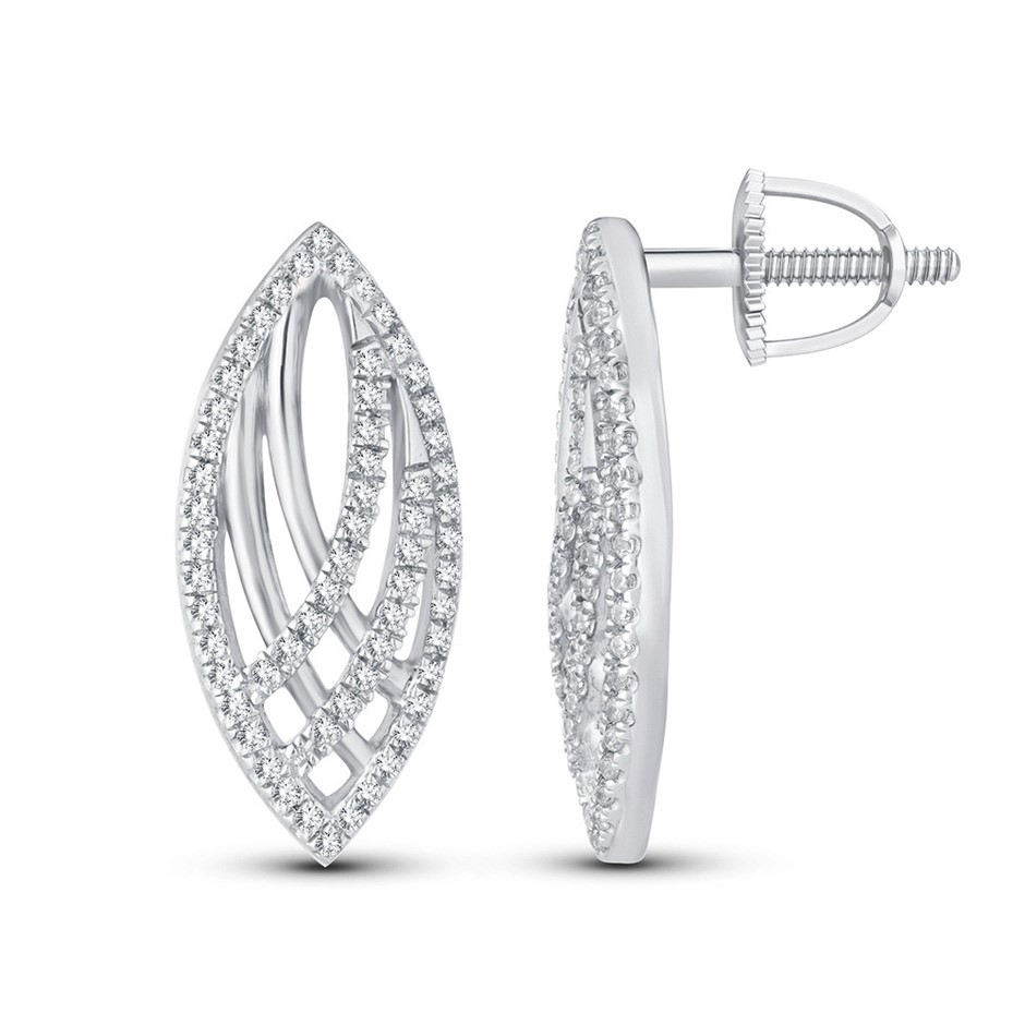 9ct White Gold, 0.21ct Diamond Stud Earrings