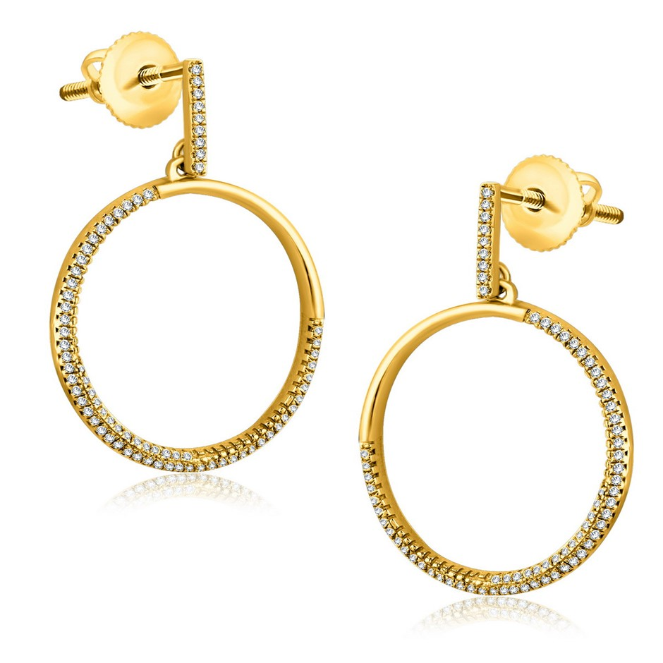 9ct Yellow Gold, 0.25ct Diamond Stud Earrings
