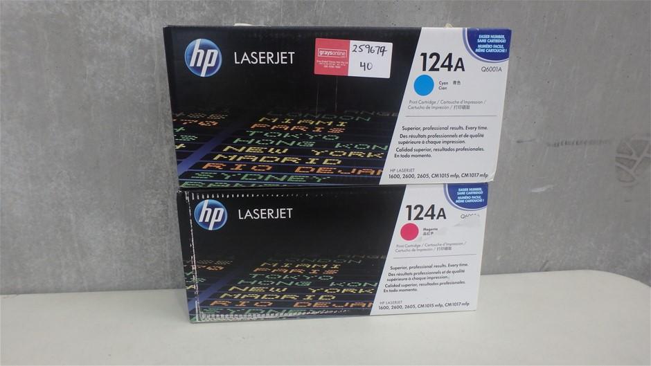 HP Cyan and Magenta Print Cartridges