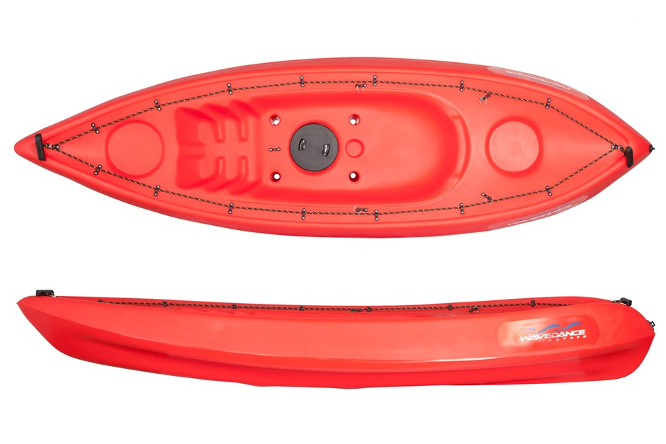 The Alpine 2.7m Kayak With Seat And Paddle - Red. By Wavedance Kayaks
