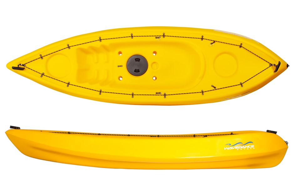 The Alpine 2.7m Kayak With Seat And Paddle - Yellow. By Wavedance Kayaks