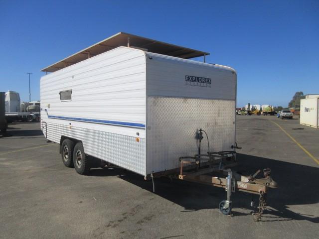 6 Metre Explorex Dual Axle Site Caravan