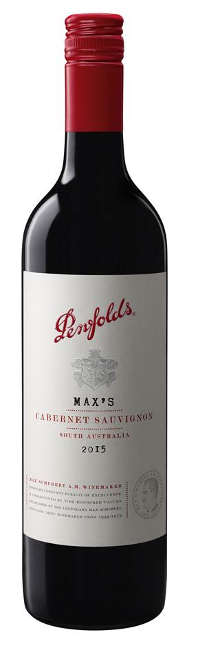 Penfolds `Max's` Cabernet Sauvignon 2017 (6 x 750mL), SA.