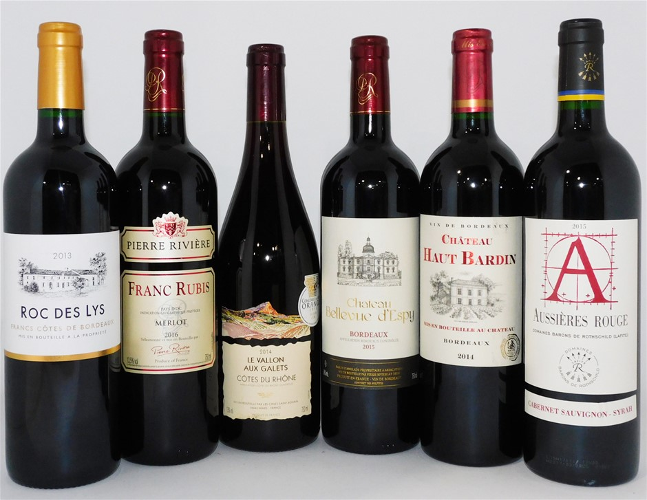 Pack of Assorted French Wine (6 x 750mL)