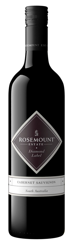 Rosemount Diamond Label Cabernet Sauvignon 2018 (6 x 750mL), SA.
