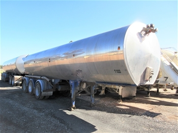 2x Stainless Steel Tanker Trailers