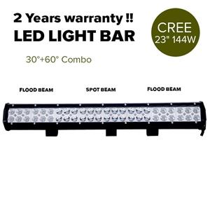 "23"" 144W Cree LED Light Bar Spot Floodli"