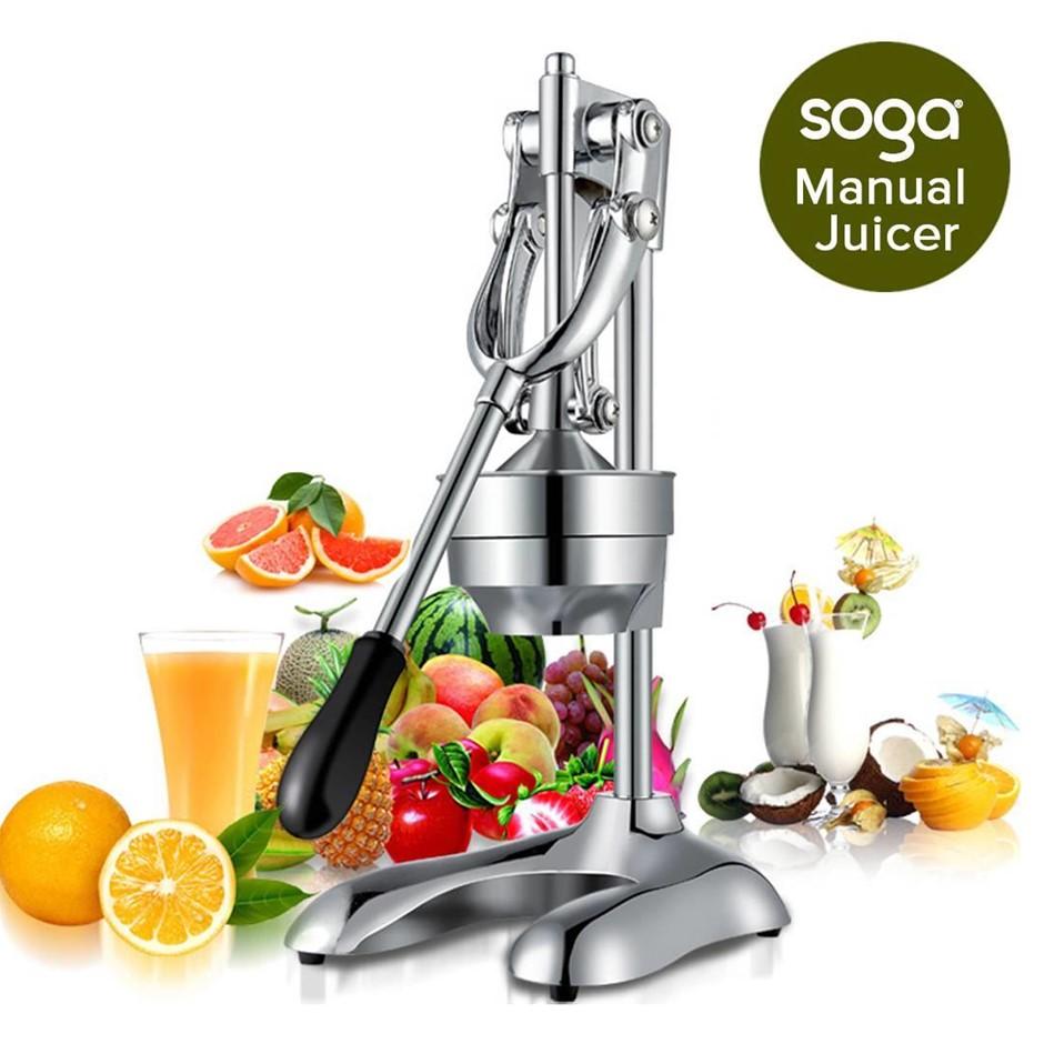 Stainless Steel Manual Juicer Hand Press Juice Extractor Squeezer