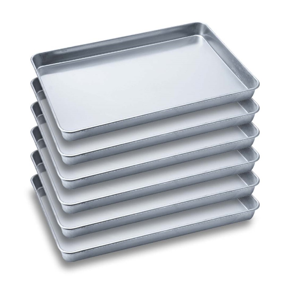 6 x SOGA Aluminium Oven Baking Pan Cooking Tray for Bakers 60*40*5cm