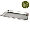 SOGA Gastronorm GN Pan Full Size 1/1 65mm Deep Stainless Steel Tray
