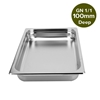 SOGA Gastronorm GN Pan Full Size 1/1 100mm Deep Stainless Steel Tray