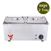 Stainless Steel Electric Bain Maire Food Warmer with Pans and Lids 2*4.5L