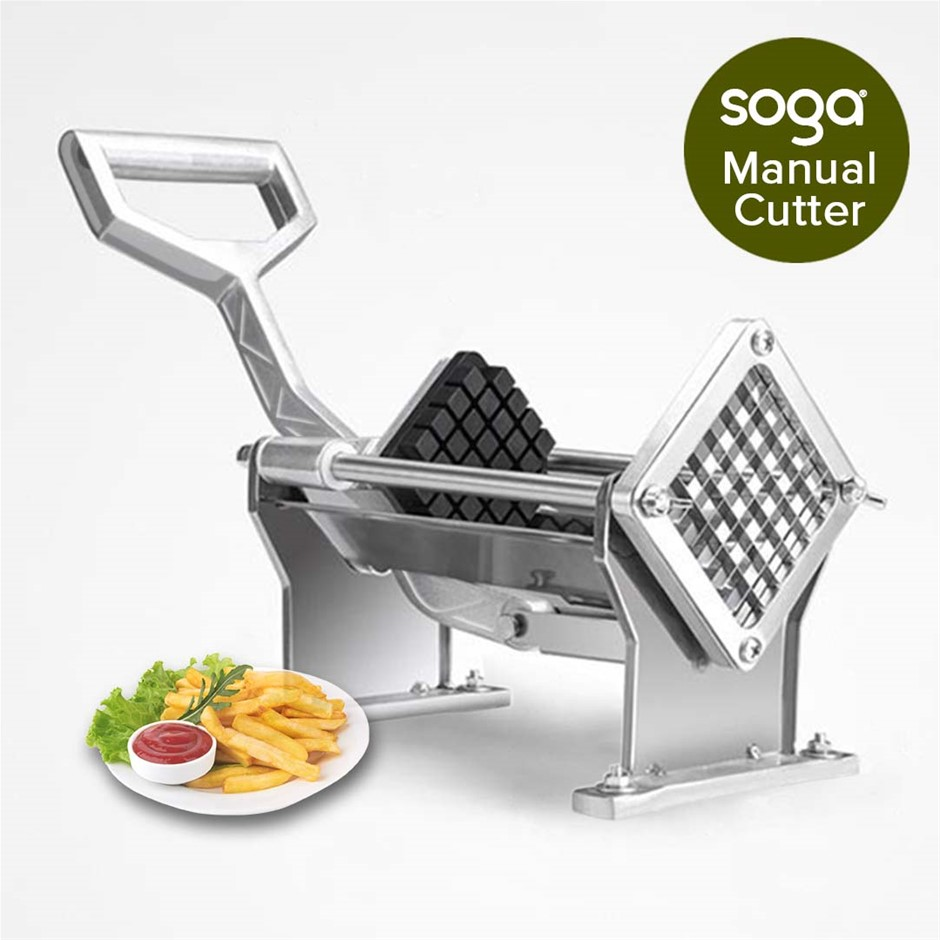 SOGA Potato French Fry Fruit Vegetable Cutter Stainless Steel 4 Blades