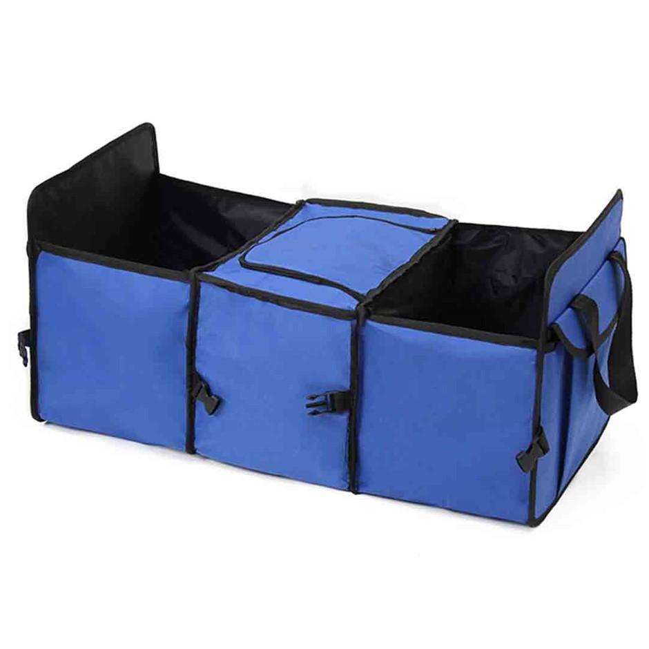 Car Portable Storage Box Waterproof Oxford Cloth Organizer Blue
