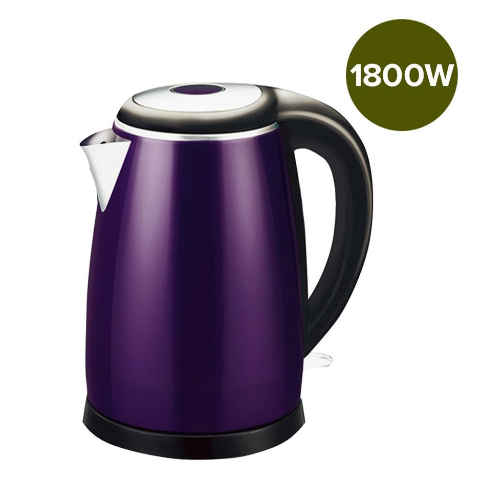 18/10 Stainless Steel Cordless 1.7L Kettle Jug Electric 360 Base Purple
