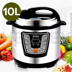 SOGA S/Steel Electric Pressure Cooker 10