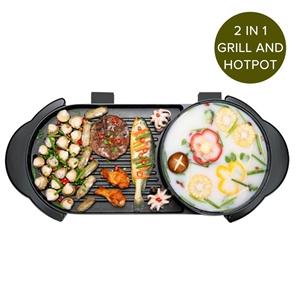 SOGA 2 in 1 Elec. Non-Stk BBQ Teppanyaki