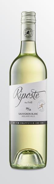 Riposte The Foil Sauvignon Blanc 2018 (12 x 750mL), Adelaide Hils, SA.