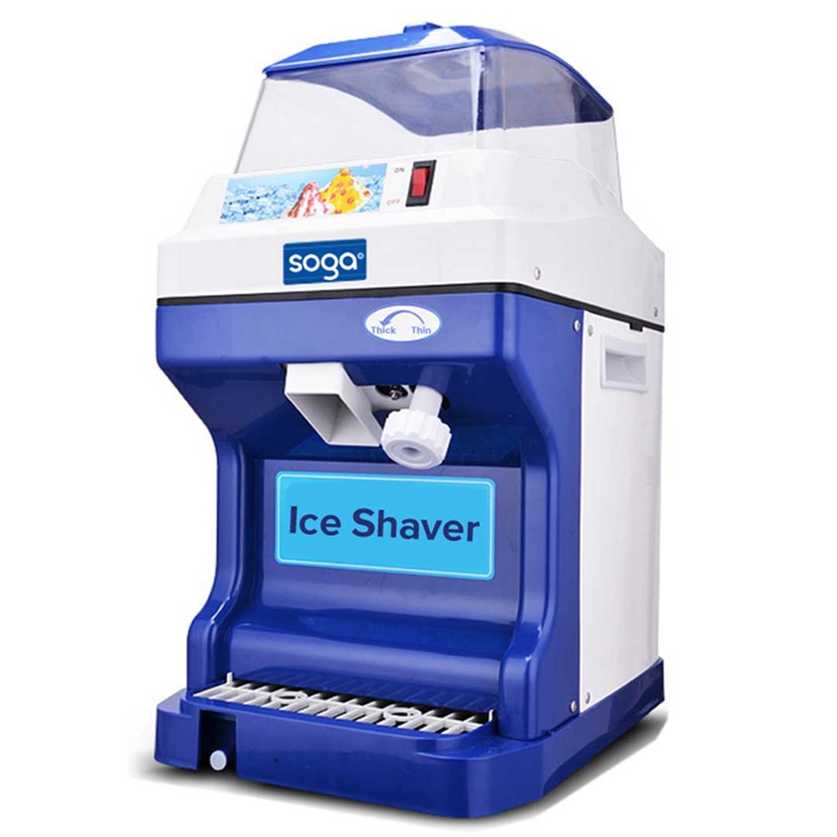 SOGA Ice Shaver Commercial Electric Stainless Steel Machine 180KG/h 88