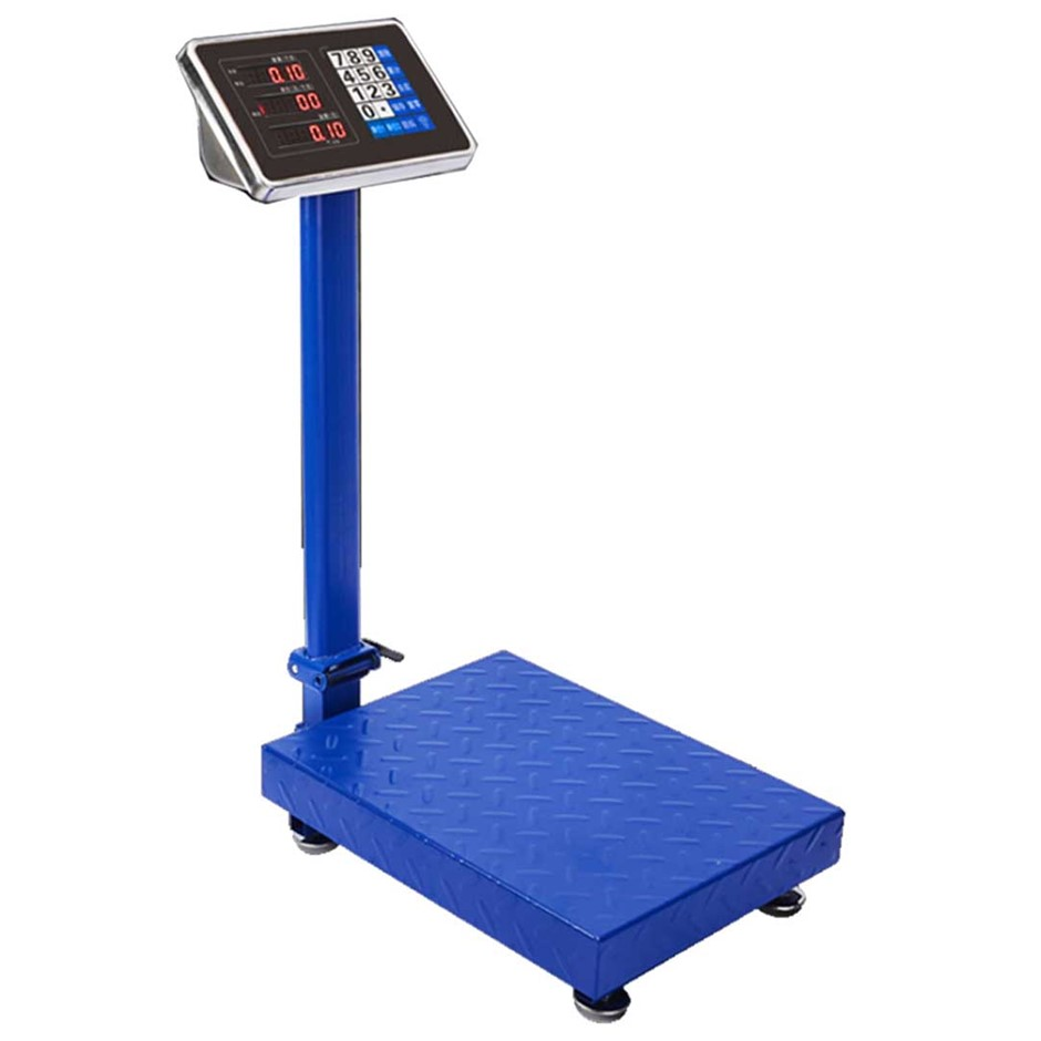 300kg Electronic Digital Platform Scale Postal Scales Weight Blue