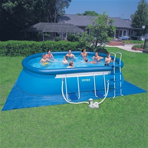 Buy dnl intex 20ft oval frame above ground pool graysonline australia for Intex swimming pools australia