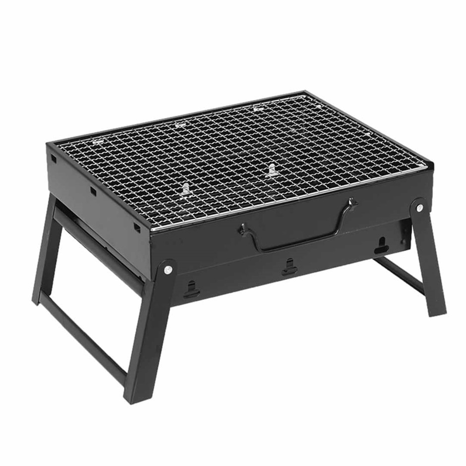 SOGA Port. Mini Folding Thick Box-type Char. Grill for Outdoor BBQ Camping