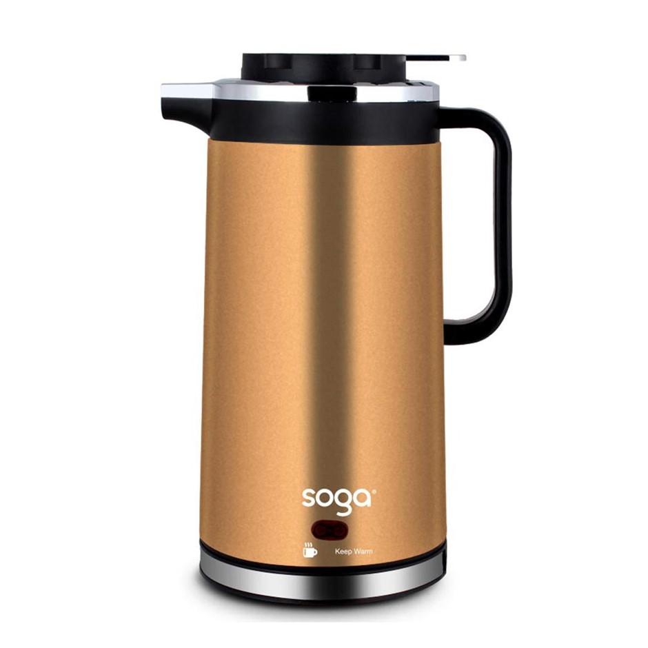 Cordless 1.8L Electric Kettle with Smart Keep Warm Function