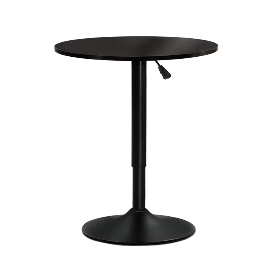 Artiss Bar Table Gas Lift Adjustable Cafe Banquet Tables Pub Metal Black