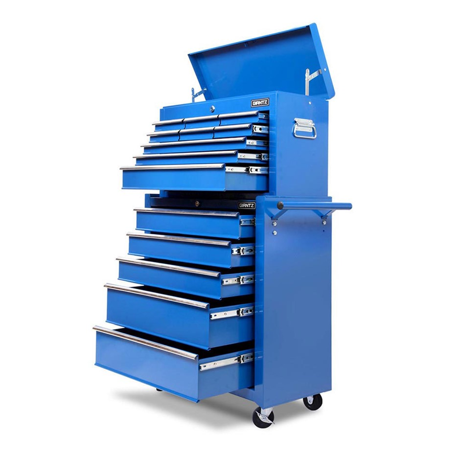 Giantz 14 Drawers Mechanic Tool Box Cabinet Trolley Garage Toolbox Storage