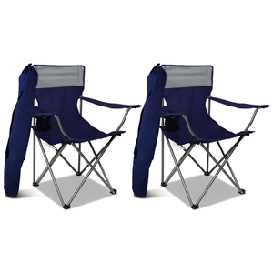 2X WEISSHORN Folding Camping Chairs Port