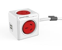 Allocacoc Extended PowerCube 5 Outlets w