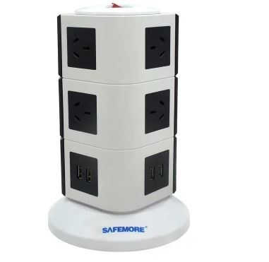 Safemore 3 Level VPS Original Power Stackr 10 Outlets with 4 USB Charging