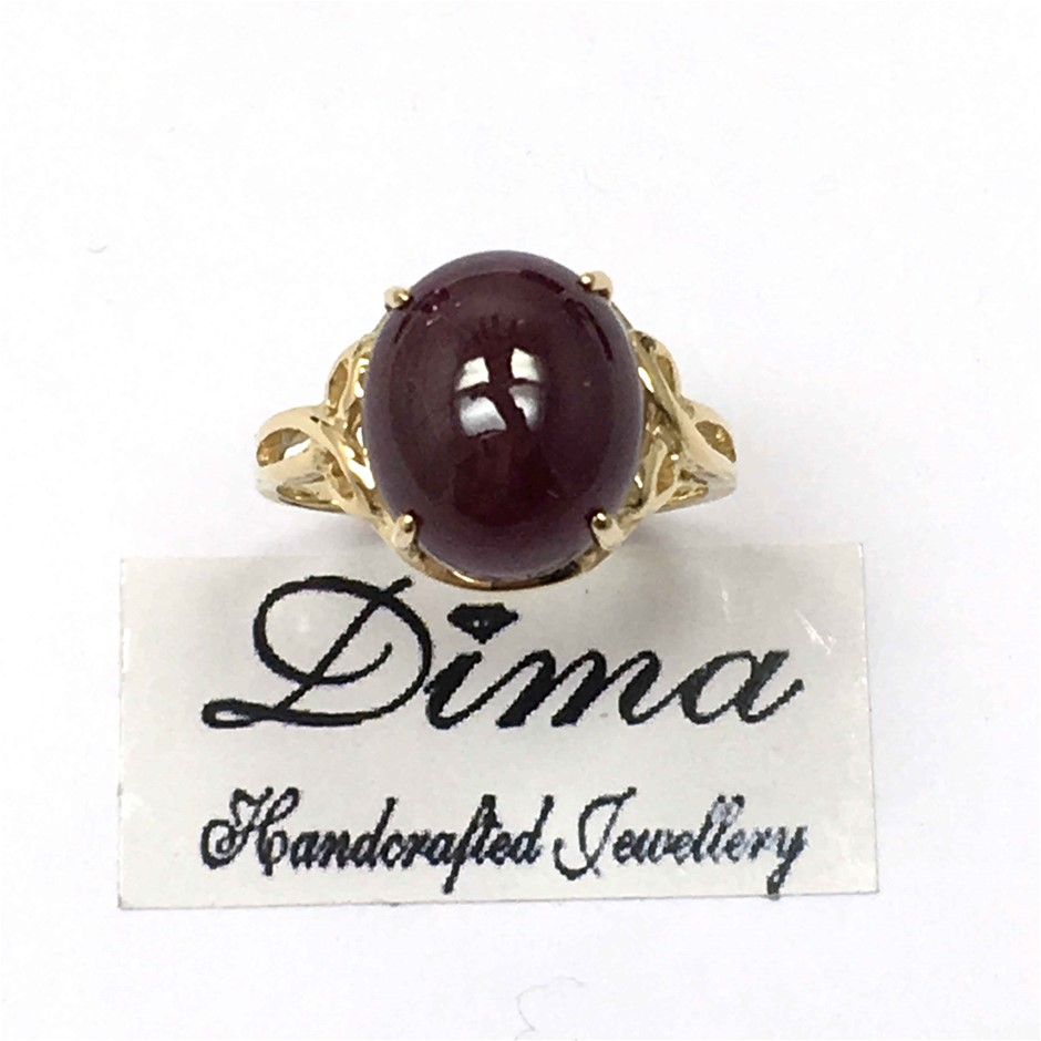 18ct Yellow Gold, 8.08ct Ruby Ring