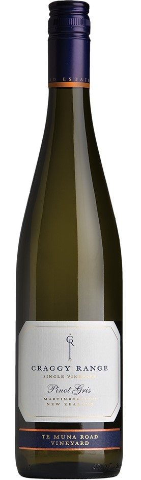 Craggy Range `Te Muna Road` Pinot Gris 2018 (12 x750mL), Martinborough, NZ.