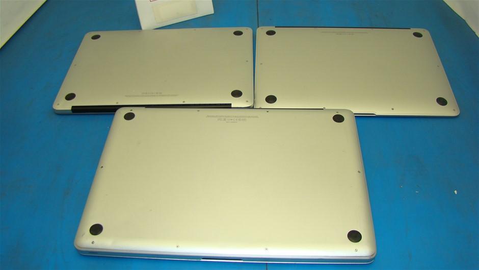 Box of assorted Apple MacBook Notebook
