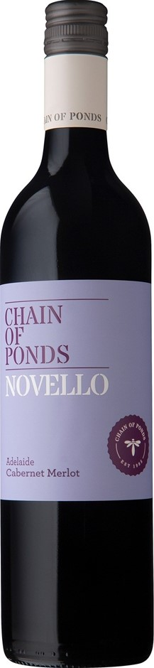 Chain of Ponds `Novello` Cabernet Merlot 2017 (12 x 750mL), Adelaide, SA.