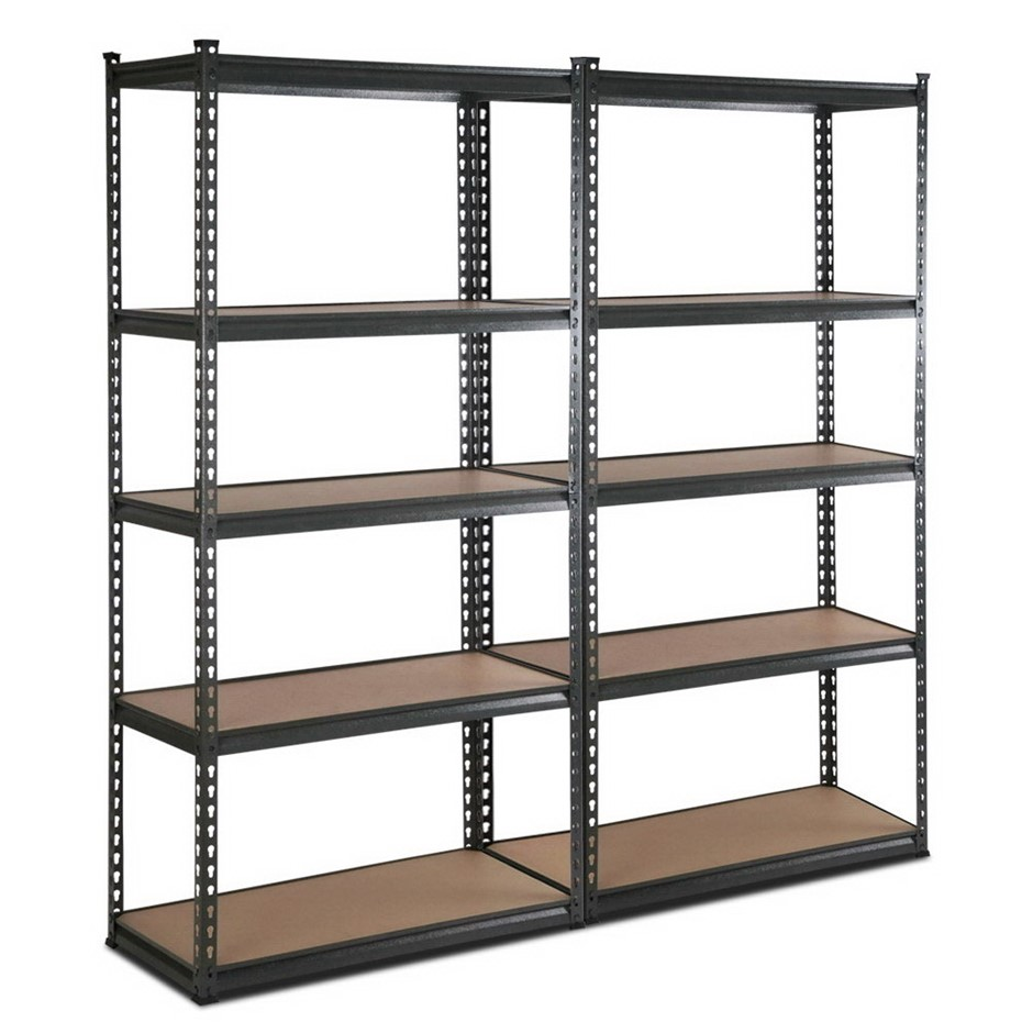Giantz 2x90CM Steel Warehouse Shelving Racking Garage Storage Rack Grey